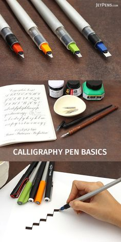 The website has some good information on the different types of calligraphy pens and nibs. There is also video so you can see how the different pens and nibs write. Calligraphy Handwriting, Calligraphy Letters, Penmanship, Caligraphy, Creative Lettering, Brush Lettering, Beautiful Handwriting, Jet Pens, Pen And Paper