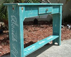 Image result for coastal blue sofa table 60 inch