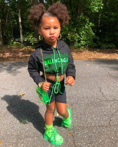 I ain't talkin' Nike when I'm talkin' about a check ✅🔥💸👑 SHOP the LOOK❗️- Nike jacket, earrings, watch & name necklace: USE… Black Kids Fashion, Cute Kids Fashion, Baby Girl Fashion, Fashion Children, Cute Little Girls Outfits, Kids Outfits Girls, Baby Outfits, Cute Black Babies, Black Baby Girls
