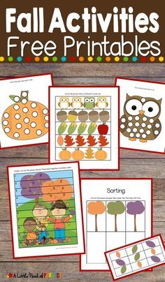 Today I am excited to be sharing our free fall printable activity pack loaded with colorful leaves, owls, acorns, pumpkins, and owls. The pack includes 20+ pages for your kid's to enjoy. For more great early learning activities and crafts be sure to follow A Little Pinch of Perfect.