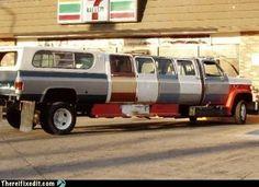Redneck stretch limo