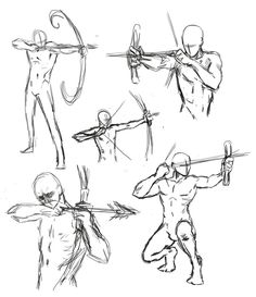 drawing bow poses by *THEAltimate on deviantART