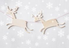 inspiration only - Deer on the run garland