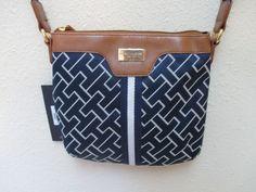 Bag Tommy Hilfiger Handbags Small XBody Handbag 6912762 471 Blue White Brown #TommyHilfiger #MessengerCrossBody