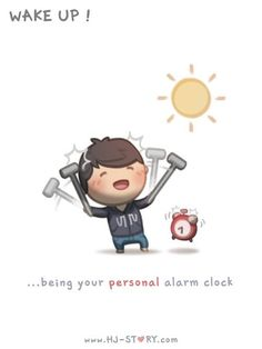 love is... being your personal alarm clock (HJ Story)