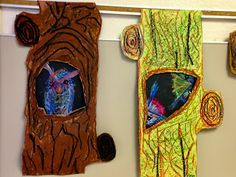 """Wildcats Create!: 4th Grade """"Busy Trees"""" - Trunks with Character"""