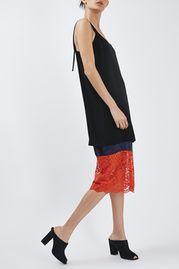 Lace Hem Slip Dress By Boutique
