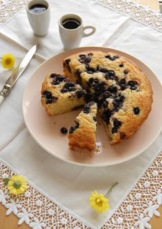 Citrus blueberry cake / Bolo cítrico com mirtilos