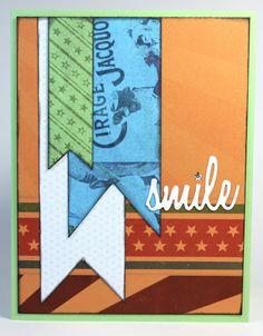 10/15 Card Sketch Challenge - Club Scrap Card by Julie Heyer #sizzix #clubscrap #cardsketch