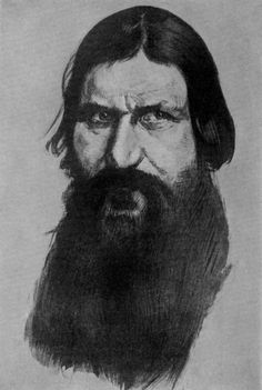 Drawing of Grigorii Yefimovich Rasputin. I thought that they said Raspucia! Ap World History, Women In History, Important People In History, Prince Felix, Tsar Nicholas, Imperial Russia, Interesting History, Historian, We The People