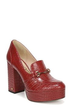 online shopping for Sam Edelman Aretha Platform Loafer Pump (Women) from top store. See new offer for Sam Edelman Aretha Platform Loafer Pump (Women) Womens Golf Shoes, Loafers Online, How To Stretch Boots, Loafer Shoes, Shoes Heels, Flats, Luxury Shoes, Ankle Strap Sandals, Women's Pumps