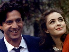 Daniel Auteil and Emmanuelle Béart in L'Amour en douce directed by Édouard Molinaro, 1985