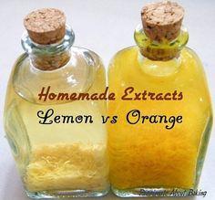 Homemade Orange Extract