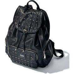 Studded black PINK backpack