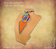 Traditional African Beaded Necklaces handmade by highly skilled Zulu Beadworkers from South Africa. African Jewelry including beaded bangles, bracelets and earrings. African Beads Necklace, African Jewelry, African Crafts, Types Of Gemstones, Knot Necklace, Beaded Jewelry, Zulu, Handmade Necklaces, Bead Jewelry