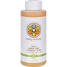 Baby Mantra Bubble Bath Shampoo And Wash - 3 In 1 - 12 Oz