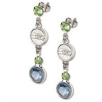 Seattle Seahawks Crystal Logo Dangle Earrings