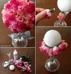 Here is an idea that is cute and easy to make. Plus, it is very affordable! A flower centerpiece #MyQuince #QuinceCenterpiece #DIY