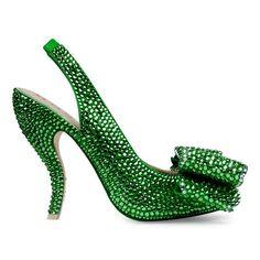 Calista Emerald Green Crystal Shoes