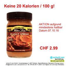 Brotaufstrich mit Erdnussbutteraroma ■ weniger als 20 Kalorien/100g ■ low carb ■ low fat ■ nur CHF 2.99 ►►► Online bestellen: http://www.active12.ch/Verschiedenes/Ihr-Ziel---Stichwort-Abfrage/0---29-Kalorien-low-carb-low-fat/Erdnussbutter-Walden-Farms-low-carb-low-fat-4582.html ►►► Lagerverkauf: http://www.active12.ch/info/Oeffnungszeiten.html #Brotaufstrich #abnehmen #sixpack #gewichtsreduktion #abspecken #kalorienarm #energiearm #lowcarb #lowfat #Waldenfarms #Peanutbutter #Erdnussbutter