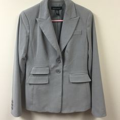 Suit jacket Light grey. Excellent condition cute buttons on sleeves details Moda International Jackets & Coats Blazers