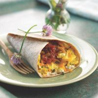Sick of plain scrambled eggs? Try this Scrambled Egg Wrap!