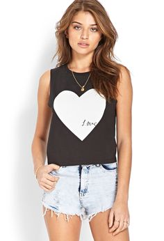 Femme Love Muscle Tee | FOREVER21 We love our #F21FreeSpirit girls! #GraphicTee #Spring Cute Fashion, Fashion Beauty, Fashion Outfits, Womens Fashion, Fashion Spring, Cute Summer Outfits, Cool Outfits, Casual Chic, Debut Photoshoot