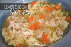 Lemon Chicken Pasta Soup
