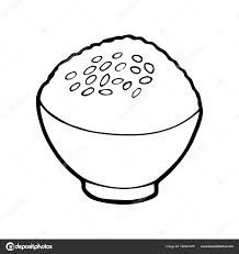 rice coloring pages for kids | rice clipart black and white | food color sheets ...