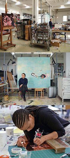 Ellen Gallagher / artist at work