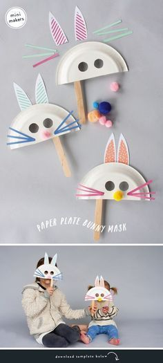 Easter bunny masks for kids