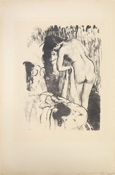 Artwork by Edgar Degas, Femme nue debout à sa toilette, Made of lithograph