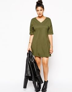 536582b6332d5 Enlarge Alice   You Plain T-Shirt Dress With Kimono Sleeve  45.86 Asos Curve