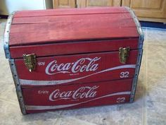 Coca Cola Coke Vintage Wooden Chest Trunk from Crates | eBay