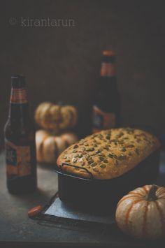Pumpkin Beer Bread   KiranTarun.com #pumpkin #beer #bread #baking #recipes #thanksgiving