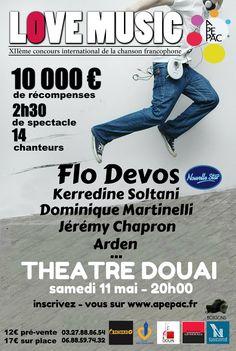 Affiche by Boxsons - #tremplin, #musique, #music, #love music, #douai, #nord, #north Dominique, Love, Pageants, Singer, Event Posters, Music, Amor, Romances