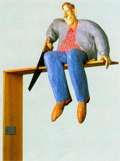 Stephen Hansen, 'Man on a Limb,' 1985, papier-mache by International Arts & Artists, via Flickr