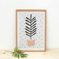 Poster plant met blo
