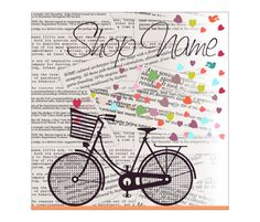 New Etsy Cover Photo Premade Etsy Shop Set Ride my Bike Spread
