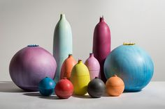 Group of vases by Elyse Graham. #interiordesign #interiordesignmagazine #design