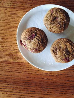 brown butter strawberry muffins | the thoughtful plate