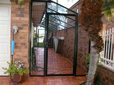 cat averies | This type of cat run is made from 50mm x 50mm mesh and can easily be ...