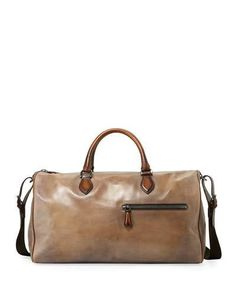 234854f4e90b BERLUTI JOUR-OFF MM LARGE LEATHER DUFFEL BAG. #berluti #bags #shoulder bags  #hand bags #leather #lining #