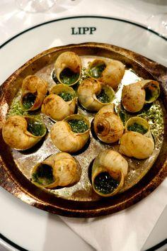 Escargots at Brasserie Lipp, Paris