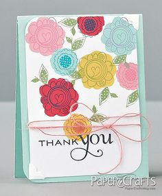 Floral Thank You Card by @Emily Branch