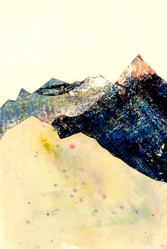 collaged mountains - love this and easy to go, gonna start collecting things for collage
