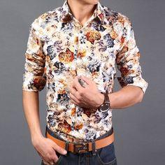 Mens Floral Button Down Shirts