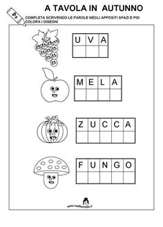 Preschool Writing, Preschool Worksheets, Italian Lessons, Italian Phrases, Kids And Parenting, Middle School, Activities For Kids, Math, Learning