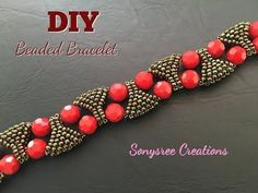 Designer Statement Bracelet Beaded bracelet DIY bracelet - YouTube