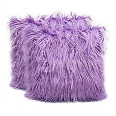 Amazon.com: 2 Pack Fluffy Throw Pillow Covers Lilac 18x18 inch/45x45cm, Soft Cuddly Faux Mongolian Fur Cushion Cover for Bed & Couch Decorative Furry Throw Pillow Cases: Gateway
